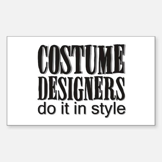 Costume Designers do it in St Sticker (Rectangular