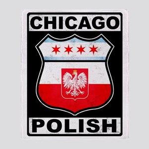 Chicago Polish American Throw Blanket