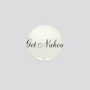 Get Naked Black Script Mini Button