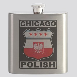 Chicago Polish American Flask