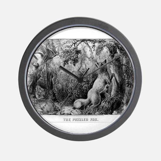 The puzzled fox - Puzzle Picture - 1872 Wall Clock