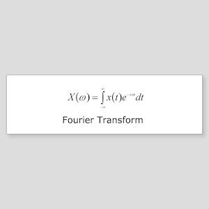 Fourier Transform Bumper Sticker