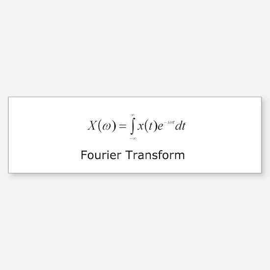 Fourier Transform Bumper Bumper Bumper Sticker