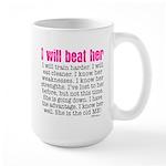 i will beat her 4 SQ pink Mug