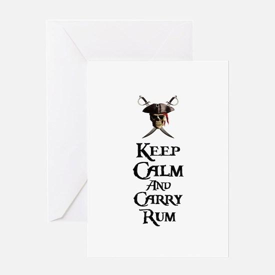 Keep Calm Carry Rum Greeting Card
