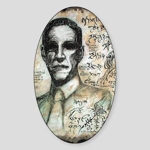 H.P. Lovecraft  Sticker (Oval)