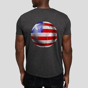 Liberia soccer Ball Dark T-Shirt