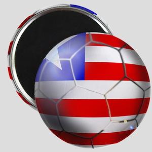 Liberia Soccer Ball Magnet
