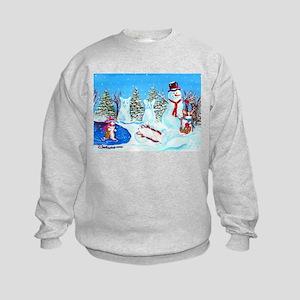 Snow Corgis II Kids Sweatshirt