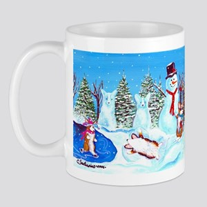 Snow Corgis II Mug