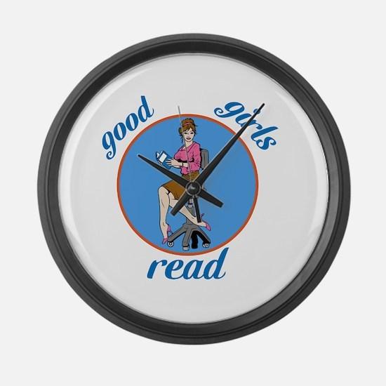 Good Girls Read Large Wall Clock