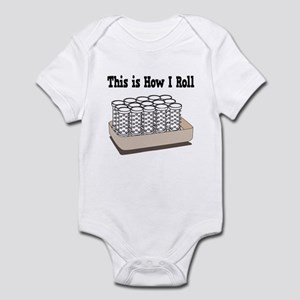 How I Roll (Hair Rollers/Curlers) Infant Bodysuit