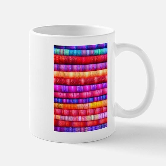 Colorful Fabric Pattern Mug