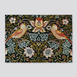 William Morris Strawberry Thief 5'x7'Area Rug