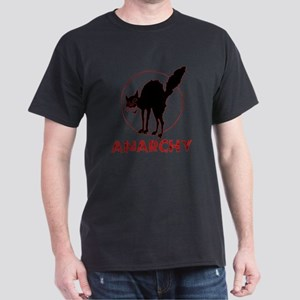 Anarchy - black cat Dark T-Shirt