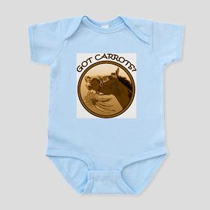 Got Carrots? Funny horse Infant Bodysuit