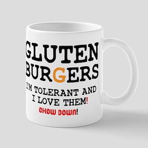 GLUTEN BURGERS - CHOW DOWN! Small Mug