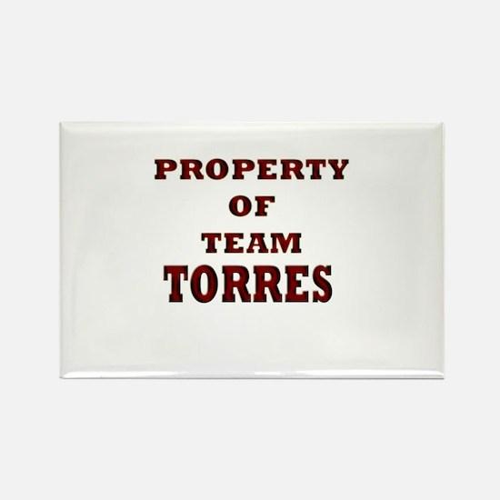 property of team Torres Rectangle Magnet