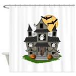 Halloween Haunted House Ghosts Shower Curtain