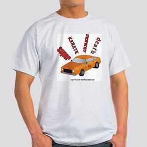 Super karate monkey death car Ash Grey T-Shirt