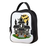 Halloween Haunted House Ghosts Neoprene Lunch Bag