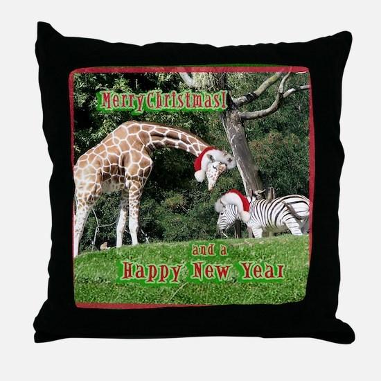 Helaine's Giraffe/Zebra Chris Throw Pillow