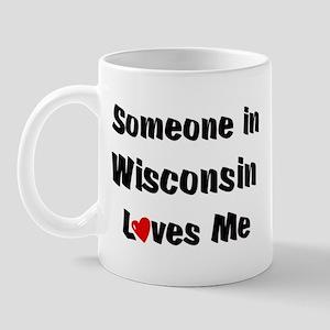 Wisconsin Loves Me Mug