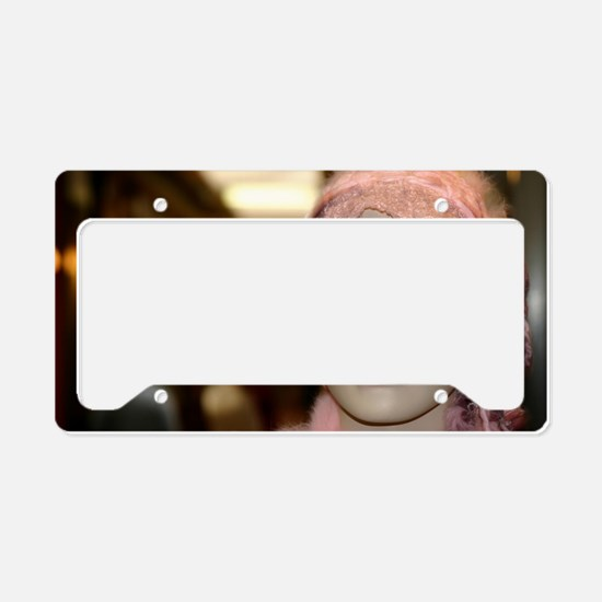 Shopping Girl License Plate Holder
