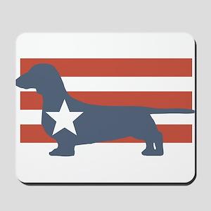 Patriotic Dachshund Mousepad