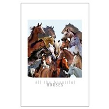 Horses Montage Large Poster