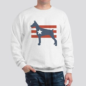 Patriotic Doberman Pinscher Sweatshirt
