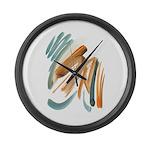 Abstract Nada Large Wall Clock