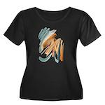 Abstract Nada Women's Plus Size Scoop Neck Dark T-