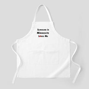 Minnesota Loves Me BBQ Apron
