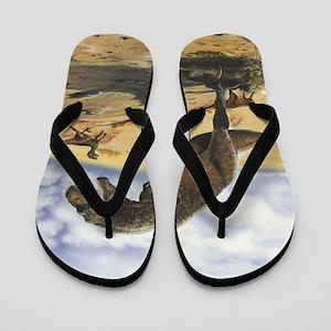 Dinosaur T-Rex Flip Flops