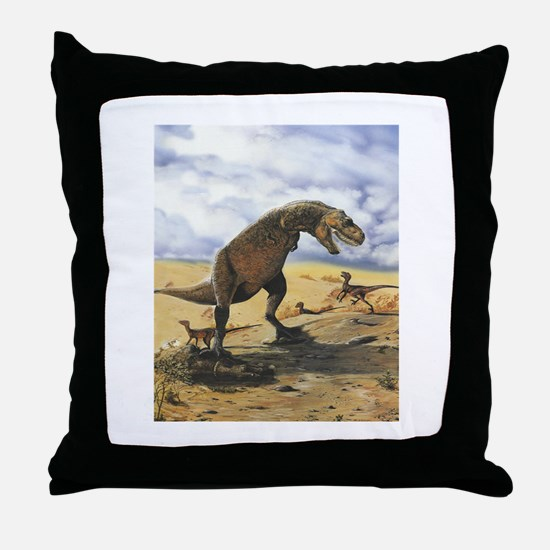 Dinosaur T-Rex Throw Pillow