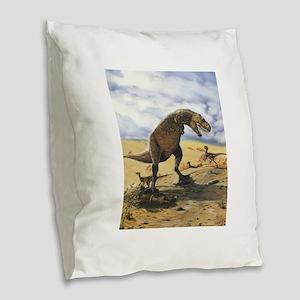Dinosaur T-Rex Burlap Throw Pillow