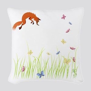 Fox Woven Throw Pillow