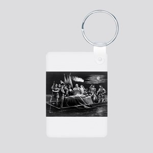 Burial of DeSoto - 1876 Aluminum Photo Keychain