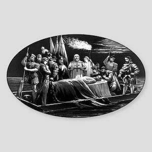 Burial of DeSoto - 1876 Sticker (Oval)