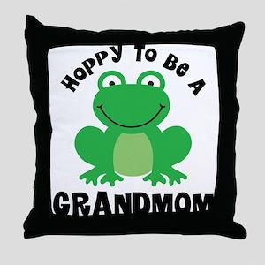Hoppy to be a Grandmom Throw Pillow