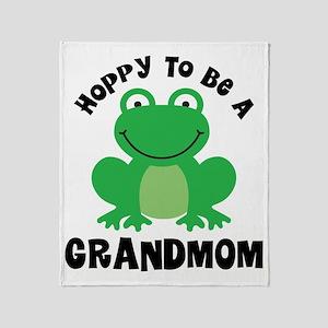 Hoppy to be a Grandmom Throw Blanket