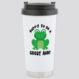 Hoppy to be a Great Aunt Stainless Steel Travel Mu