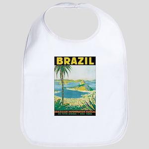 Brazil Travel Poster Bib