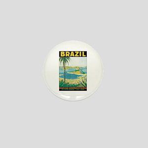 Brazil Travel Poster Mini Button