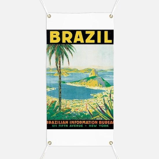 Brazil Travel Poster Banner
