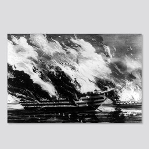 Burning of the U.S. ship of the line Pennsylvania