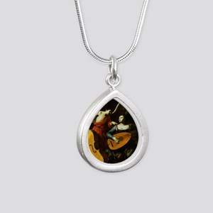Saint Cecilia and the An Silver Teardrop Necklace