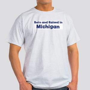 Raised in Michigan Ash Grey T-Shirt