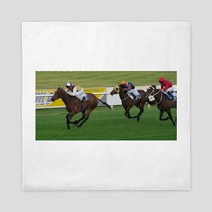 Race horses Queen Duvet
